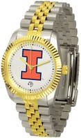 Illinois Fighting Illini  Executive  2-Tone 23k Gold Stainless Steel Watch - White Dial (Men's or Women's)