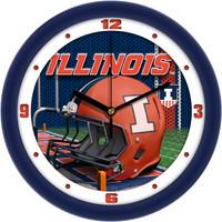 Illinois Fighting Illini  12 Inch Round Wall Clock