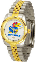 Kansas Jayhawks  Executive  2-Tone 23k Gold Stainless Steel Watch - White Dial (Men's or Women's)