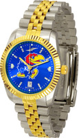 Kansas Jayhawks  Executive  2-Tone 23k Gold AnoChrome Stainless Steel Watch - Color Dial (Men's or Women's)