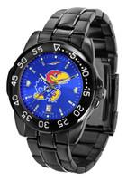 Kansas Jayhawks  Fantom Gunmetal Sport AnoChrome Watch - Color Dial (Men's or Women's)