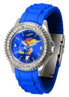Kansas Jayhawks  Sparkle AnoChrome Sport  Watch - Silicone Band