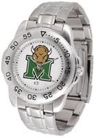 Marshall Thundering Herd  Sport Stainless Steel Watch White Dial (Men's or Women's)
