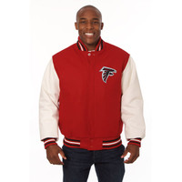 *Atlanta Falcons Heavyweight Leather and Wool Jacket