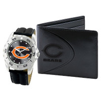 *Chicago Bears NFL Men's Leather Watch and Leather Wallet Gift Set