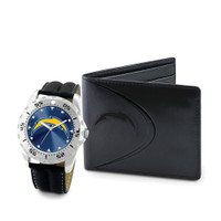 *San Diego Chargers NFL Men's Leather Watch and Leather Wallet Gift Set