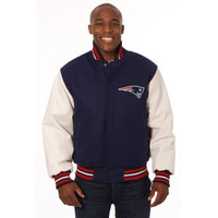 *New England Patriots NFL Men's Heavyweight Wool and Leather Jacket