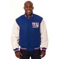 *New York Giants NFL Men's Heavyweight Wool and Leather Jacket