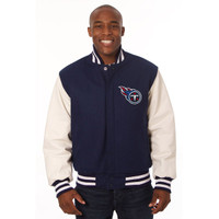 *Tennessee Titans NFL Men's Heavyweight Wool and Leather Jacket