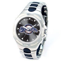 *Milwaukee Brewers MLB Men's Game Time MLB Victory Series Watch