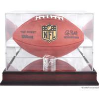 *Atlanta Falcons Mahogany Football Team Logo Display Case with Mirror Back