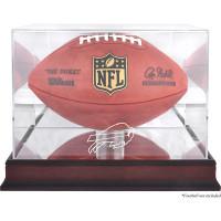 *Buffalo Bills Mahogany Football Team Logo Display Case with Mirror Back