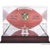 *Dallas Cowboys Mahogany Football Team Logo Display Case with Mirror Back