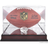 *Jacksonville Jaguars Mahogany Football Team Logo Display Case with Mirror Back