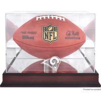 Los Angeles Rams Mahogany Football Team Logo Display Case with Mirror Back