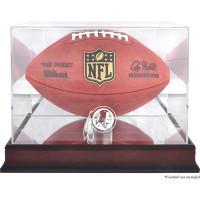 *Washington Redskins Mahogany Football Team Logo Display Case with Mirror Back