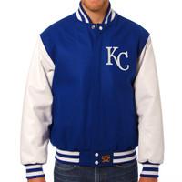 Kansas City Royals MLB Mens Heavyweight Wool and Leather Jacket