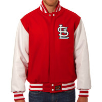 St. Louis Cardinals MLB Mens Heavyweight Wool and Leather Jacket