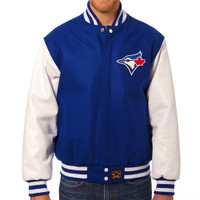 Toronto Blue Jays MLB Mens Heavyweight Wool and Leather Jacket