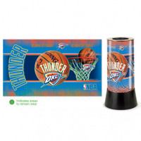 Oklahoma City Thunder Rotating Team Lamp