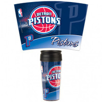Detroit Pistons 16oz Travel Mug