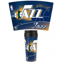 Utah Jazz 16oz Travel Mug