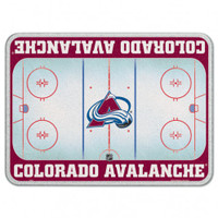 Colorado Avalanche Glass Cutting Board