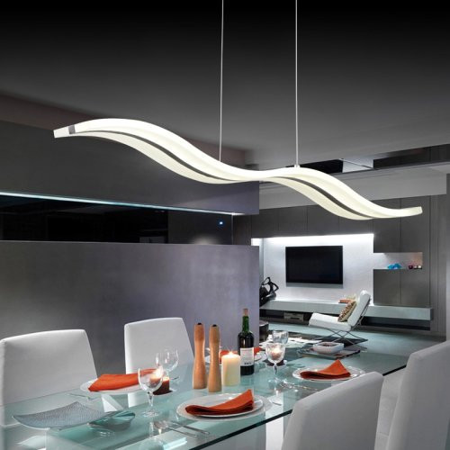 Voglio Chandelier Acrylic Shade Sea Wave Modern Design Singapore Luxury Lighting House Horizon Lights