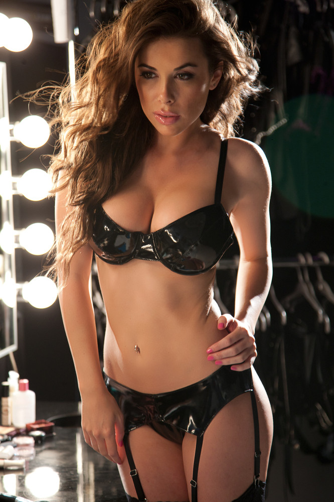 Allure Vinyl Bra. The classic black bra gets a naughty twist in slick black vinyl. This bra has underwire, adjustable shoulder straps and back, a black closure, and endless possibilities. By Allure Leather.
