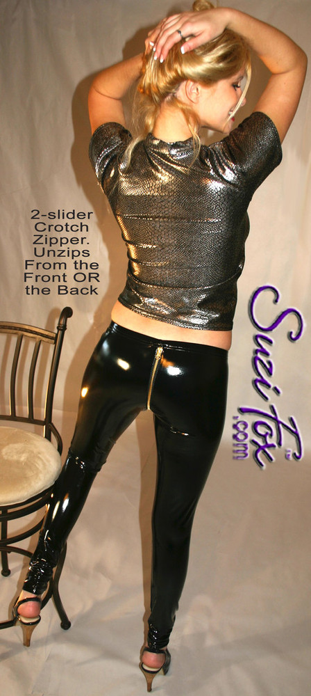 Optional 2-slider crotch zipper shown.