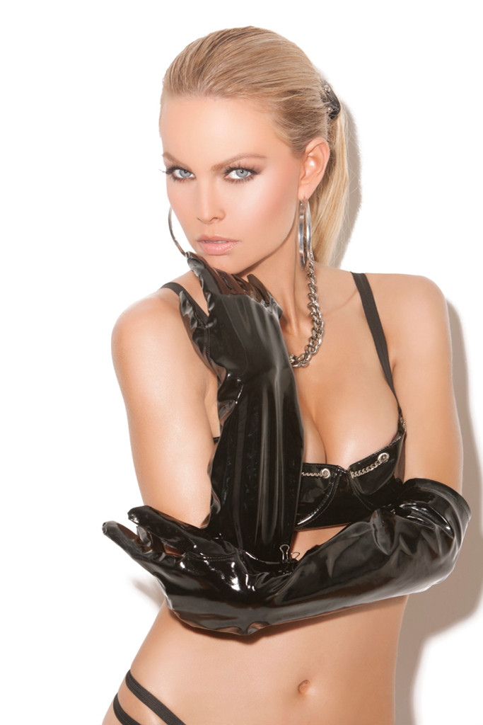 "Vinyl Gloves by Elegant Moments (One size, 20"" long)"