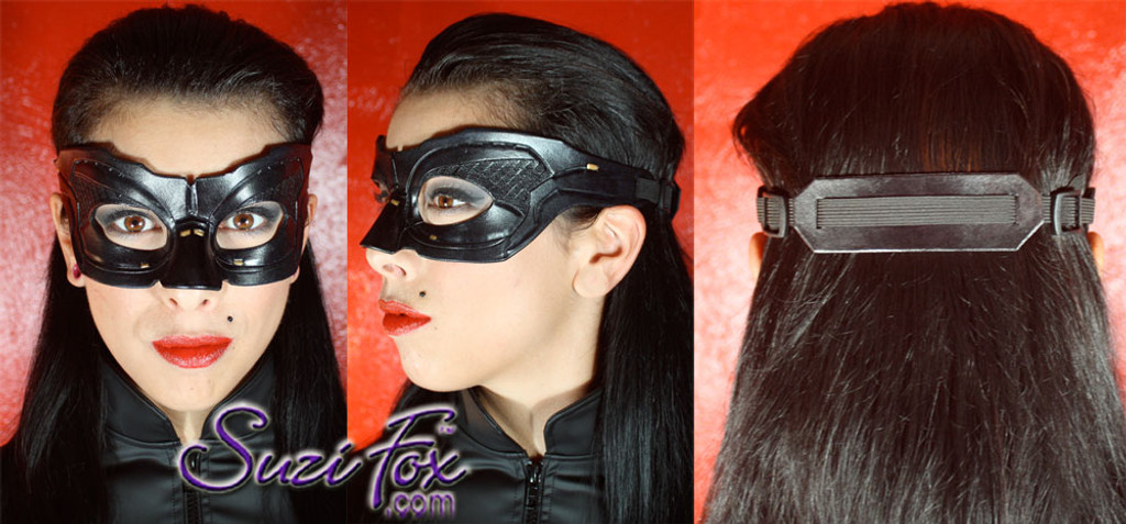 Custom handcrafted, eather mask included. Adjustable.
