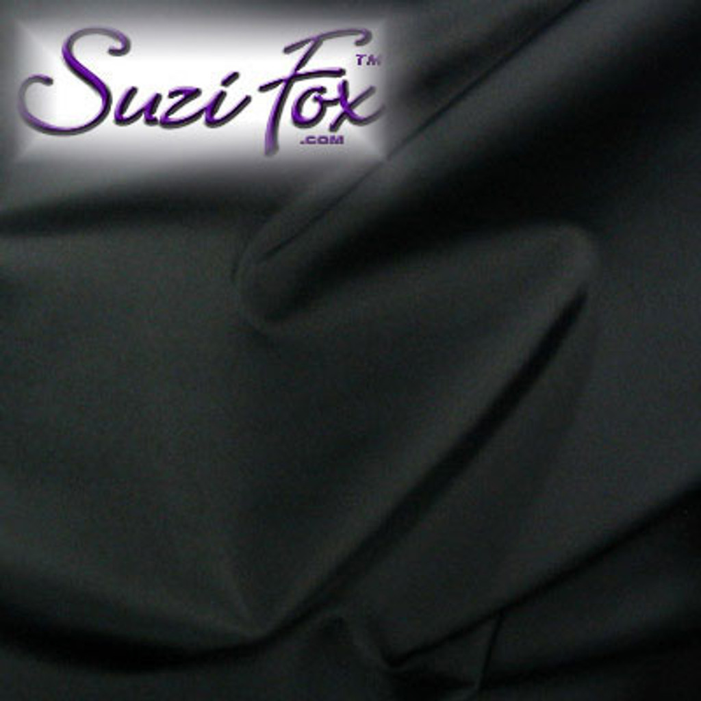 "Black Matte (no shine) Vinyl/PVC. Looks like leather. Four Way Stretch. 80% Nylon, 20% Spandex.  Polyurethane coated. This fabric is very tight, 4-way stretch with about a 2"" stretch. It will hide minor cellulite and hold in small love handles. Vinyl will separate from backing if worn too tight or if rubbed excessively.   Available in matte black (no shine), matte white (no shine), black, gloss black, white, red, navy blue, royal blue, turquoise, purple, Neon Pink, fuchsia, light pink,  3D Prism, red 3D Prism, Turquoise 3D Prism, Baby Blue 3D Prism, Hot Pink 3D Prism.  Hand wash inside out in cold water, line dry. Iron inside out on low heat. Do not bleach."