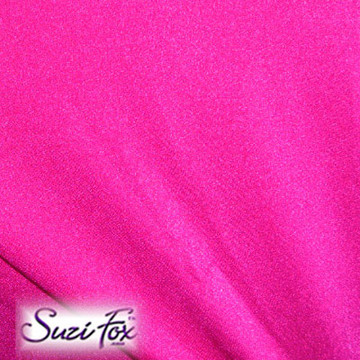 Fabric #1909 - Neon Pink Milliskin Tricot Spandex. Four Way Stretch Nylon Spandex (per yard price if you want to buy extra is $25 per yard) 80% Nylon, 20% Spandex,  Available in black, white, red, royal blue, sky blue, turquoise, purple, green, neon green, hunter green, neon pink, neon orange, athletic gold, lemon yellow, steel gray Miilliskin Tricot spandex.  This is a 4-way extreme stretch fabric with a slight shine. Light, airy, thin, and very comfortable! Lighter colors might be slightly see through when wet.  Hand wash inside out in cold water, line dry. Iron inside out on low heat. Do not bleach.