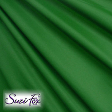 Fabric #1946 - Hunter (Dark) Green Milliskin Tricot Spandex. Four Way Stretch Nylon Spandex (per yard price if you want to buy extra is $25 per yard) 80% Nylon, 20% Spandex,  Available in black, white, red, royal blue, sky blue, turquoise, purple, green, neon green, hunter green, neon pink, neon orange, athletic gold, lemon yellow, steel gray Miilliskin Tricot spandex.  This is a 4-way extreme stretch fabric with a slight shine. Light, airy, thin, and very comfortable! Lighter colors might be slightly see through when wet.  Hand wash inside out in cold water, line dry. Iron inside out on low heat. Do not bleach.
