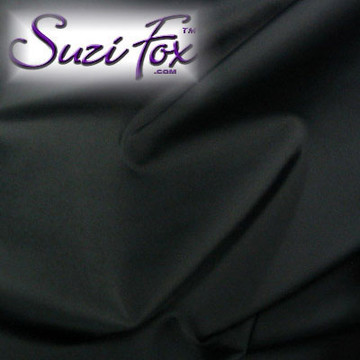 """Black Matte (no shine) Vinyl/PVC. Looks like leather. Four Way Stretch. 80% Nylon, 20% Spandex.  Polyurethane coated. This fabric is very tight, 4-way stretch with about a 2"""" stretch. It will hide minor cellulite and hold in small love handles. Vinyl will separate from backing if worn too tight or if rubbed excessively.   Available in matte black (no shine), matte white (no shine), black, gloss black, white, red, navy blue, royal blue, turquoise, purple, Neon Pink, fuchsia, light pink,  3D Prism, red 3D Prism, Turquoise 3D Prism, Baby Blue 3D Prism, Hot Pink 3D Prism.  Hand wash inside out in cold water, line dry. Iron inside out on low heat. Do not bleach."""