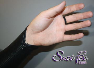 Optional wrist zipper.