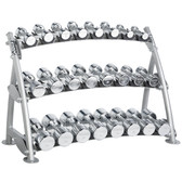 Hoist CF 3462-3 Commercial (3) Tier Horizontal Beauty Dumbbell Rack