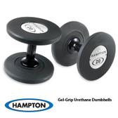 Hampton Gel Grip Urethane Dumbbells