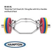 Multi-Hex International Dead Lift / Shrug Bar w/ Hi-Lo Handles