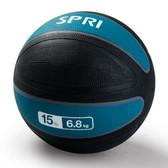 Spri Teal Xerball Medicine Ball - 15lb