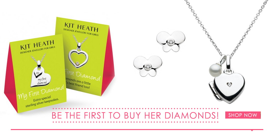 Girls Diamond Jewellery - Kit Heath Kids