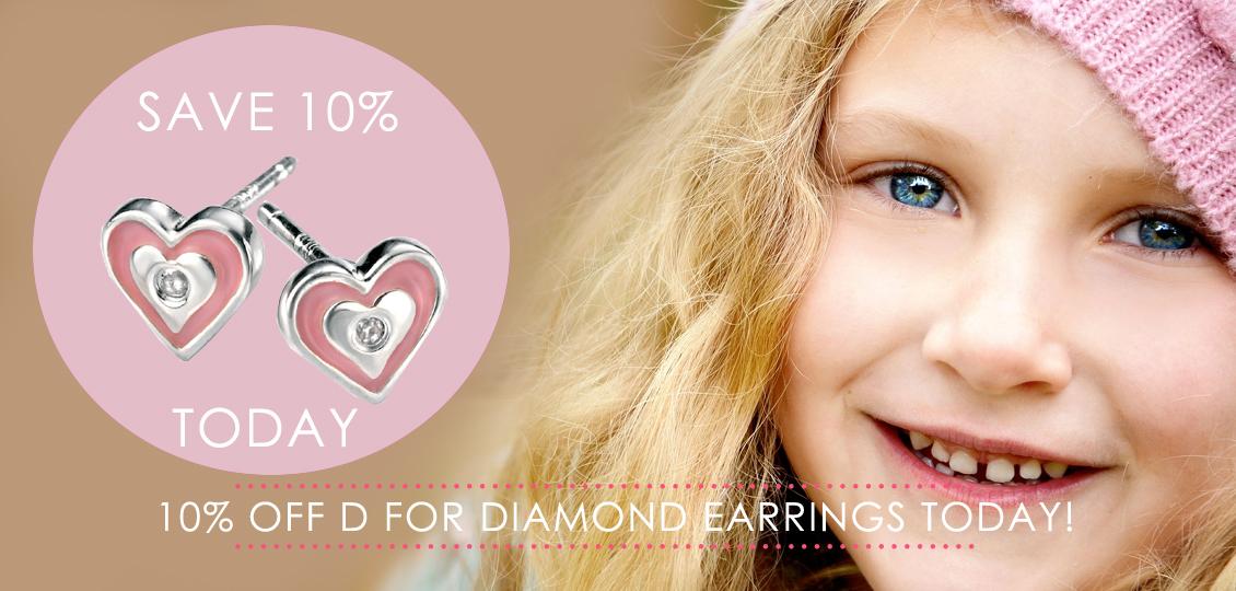 10% off D for Diamond Earrings