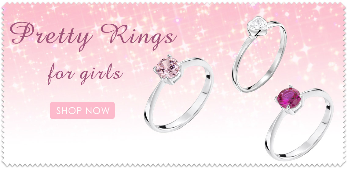 Girls Childrens Rings in small sizes