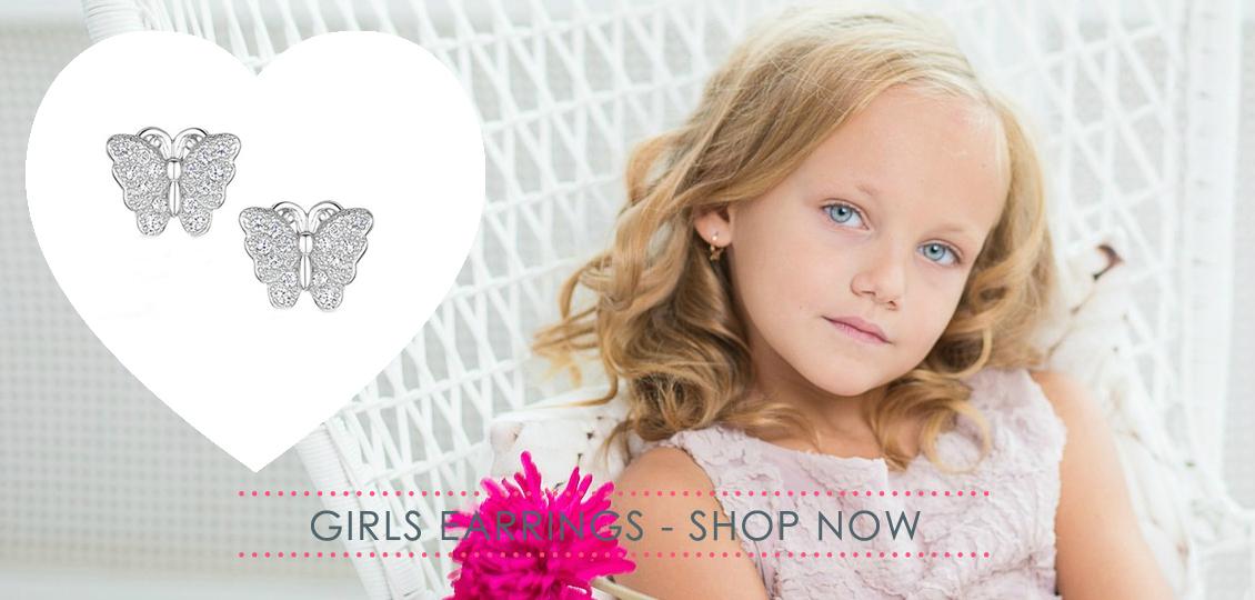 Girls silver earrings from £3.99