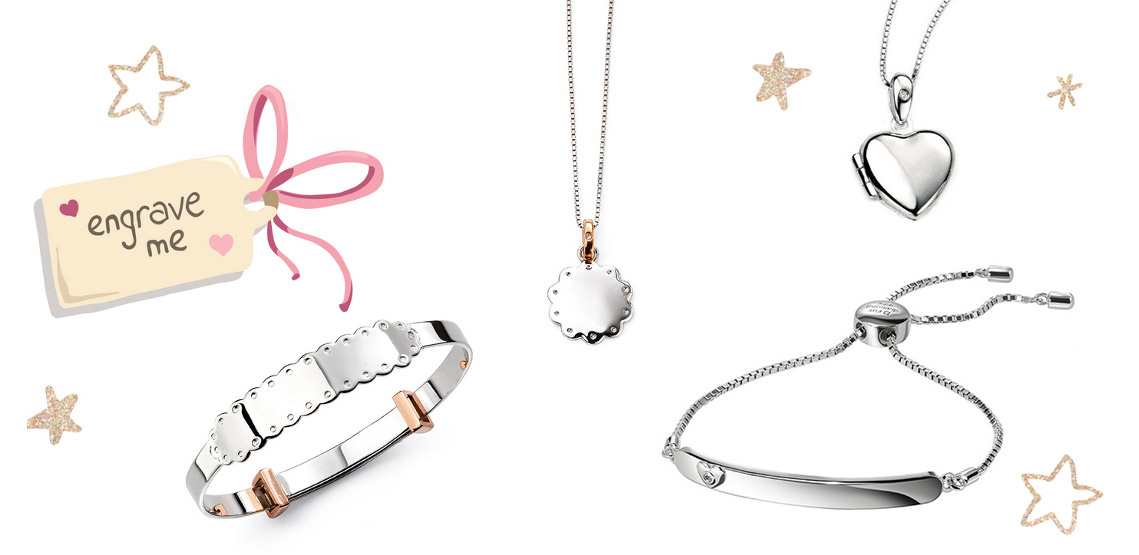 Engraved personalised jewellery for children