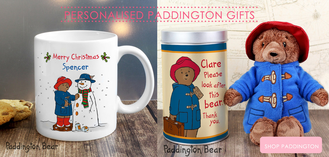 Personalised Paddington gifts