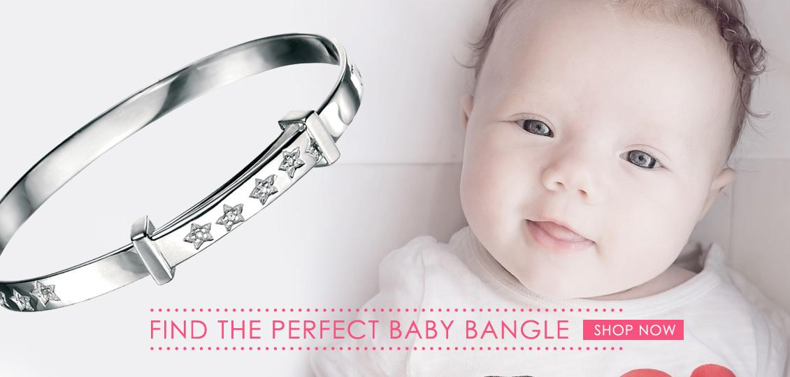 Silver Baby Christening Bangles