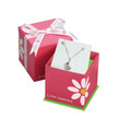 D for Diamond earring gift box
