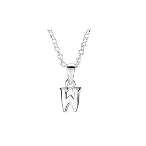Jo For Girls Silver Initial Pendant - W